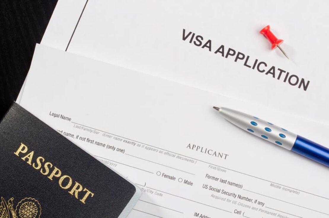 Visa application photo